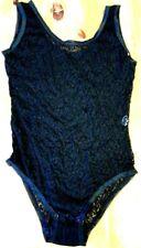 Super elastischer schwarzer Spitzenbody Gr. L (42,44,46)