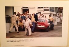 AMC JAVELIN St. Jovite Trans-Am 1970/ Mark Donohue Gasing Up In Pits Car Poster!