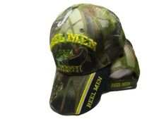 Reel Men Fish Fishing Camouflage Camo Mesh Embroidered Cap CAP932 Hat