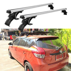 """For Toyota Yaris 48"""" Car Roof Rack Cross Bar Luggage Bicycle Carrier Aluminum"""