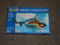 REVELL MBB BK 117 SPACE SHIP HELICOPTER -  1:72 MODEL KIT - NEW (FREE UK P&P)