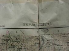ORIGINAL WWII USED 1926 MAP BURMAN CHINA MYITKYINA DISTRICT YUNNAN PROVINCE