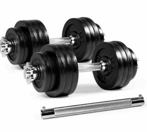Yes4all 100 lb Adjustable Dumbell Set Pair with connectors (50 X 2)