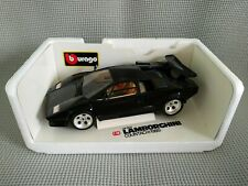 Burago Lamborghini Countach (1988) 1:18 Diamonds scaled model, Black - Near Mint