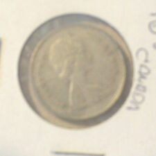 CANADA 1968 SILVER QUARTER DOLLAR CANADIAN 25c COIN FLIPPED