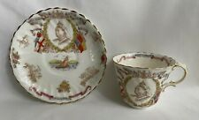 Antique 1897 Queen Victoria Diamond Jubilee Cup and Saucer Set