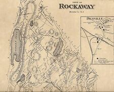 Rockaway Lake Telemark Denville NJ 1868 Maps with Homeowners Names Shown