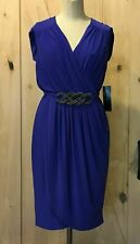 Jones New York Dress Sz 10 Medium Plum Purple