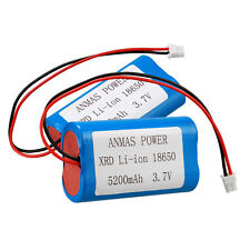 2pcs 3.7V 5200mAh XRD Li-Ion 18650 Rechargeable Battery Pack W / Cable For DIY