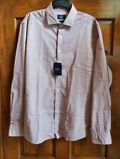 NWT Hackett London Mens Cotton Slim Fit Print Shirt Red/White XXL