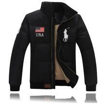 Winter Warm 90% Duck Down Mens USA Flag Thicken Short Jacket Coat Puffer Parka