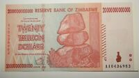 ZIMBABWE 20 TRILLION ZIMBABWE DOLLARS UNCIRCULATED NOTE