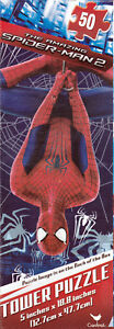 "Jigsaw Puzzle Tower SPIDER-MAN 2 Marvel 50 Piece 5x18.8"" Cardinal S2"