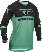 Fly Racing Mens Sage Green/Black Kinetic K120 Dirt Bike Jersey & Pants Combo Kit