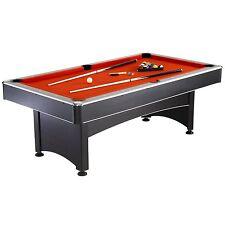 "Hathaway Maverick 7"" Combo Pool Table & Table Tennis Red/Blue & Black"