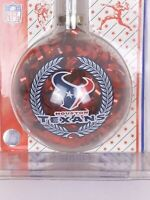 Vintage Sports Collector Glass Ball Christmas Ornament NFL HOU Texans Football