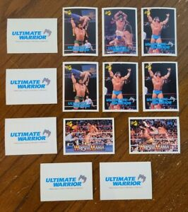 1990 Ultimate Warrior Classic WWF  Wrestling Rookie Card Lot Of 13 NM-MT READ