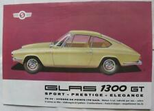 GLAS 1300 GT Car Sales Sheet Feb 1964 #1300/2.64 Fra French text