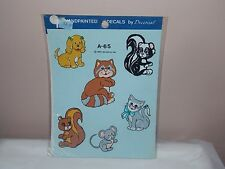 Vgt 1983 Decoral Handpainted Waterslide Decals Animals A-65 New Old Stock