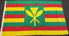 New listing 3'x5' Kanaka Maoli True People Flag Native Hawaii Us State Banner Kamehameha 3X5