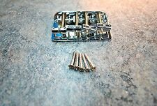 #1075 Squier J Bass Vintage Mod '70 4-String Bridge & Saddle Set OEM Repair Part