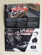 Fiat Abarth Punto Evo 500 C - Kits und Zubehör - Prospekt Brochure 08.2011