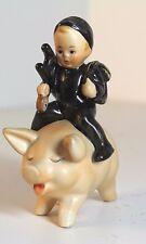 VINTAGE GOEBEL HUMMEL SPO 61 CHIMNEY SWEEP  LITTLE BOY RIDING A PIG  TMK-5