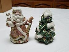 Fitz & Floyd Santa Christmas tree salt and pepper shakers