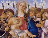 SANDRO BOTTICELLI ITALIAN MADONNA AND CHILD ANGELS ART PAINTING POSTER BB4979A