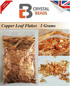 Copper Leaf Flakes 3 Grams, All Crafts  Nail Art Decorations also Silver & Gold