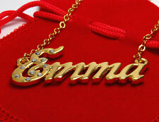 """Name Necklace """"EMMA"""" - 18ct Gold Plated - Accessories Thank You Jewellery Gifts"""