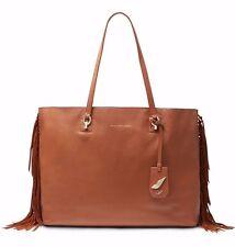 8316d338c900 Diane Von Furstenberg Leather Sutra Ready to Go Fringe Large Tote Bag Saddle