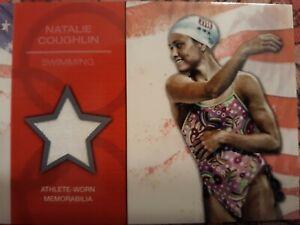 2012 Topps U.S. Olympic Hopefuls NATALIE COUGHLIN RELIC swimmer