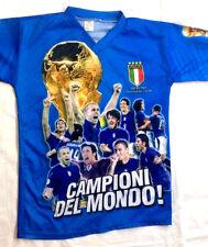 Nazionale Italiana Campioni del Mondo 2006 - Taglia 10 Anni ITALIA T-Shirt Usata