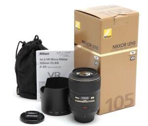 Excellent Nikon AF-S VR Micro-NIKKOR 105mm f2.8 G IF-ED Lens with Box #33653