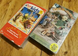 Oakie Doke VHS x2 Birthday Surprise & Lonely Mouse RARE ABC Kids Johnson Friends