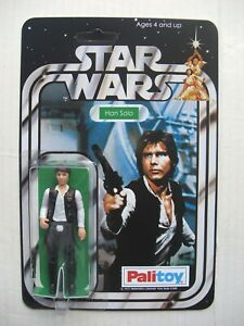 Vintage STAR WARS HAN SOLO Retro Collection on New Hope Style PALITOY Card