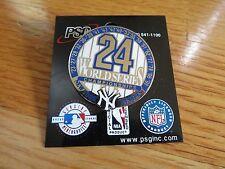 "24 WORLD SERIES New York Yankees CHAMPIONS 1.5"" Pin MANTLE BERRA DIMAGGIO RUTH"