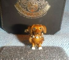Juicy Couture GOLD Dachshund Bracelet Necklace Charm YJRU7316 very RARE