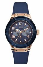 Guess W0571L1 Women's Sport Multifunction Blue Silicone Strap Watch