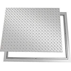 VEVOR Recessed Manhole Cover Galvanized Drain Cover 60x80 cm Steel Lid w/ Frame