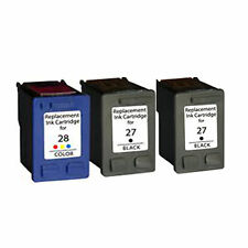 2XHP27 +HP28 Reman Ink Cart196% More Ink DeskJet 3320 3322 3420 3425 3450 3520