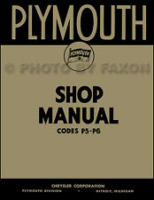 1938 only Plymouth Shop Manual 38 P5 P6 Repair Service Book includes wiring