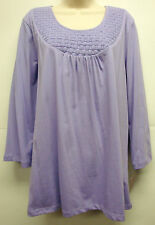 "*NWT Stylish JM Collection ""Artist Garden First Lilac"" Top/Blouse sz 1X-Nice"