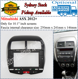 For 10 Ten Inch Screen Fascia facia Fits Mitsubishi ASX RVR Outlander Sport*