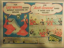 Rinso Soap Ad: Lily White and Aunty Sneeze Rinso Ad 1940's