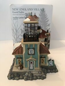 Dept 56 New England Village TUCKER POINT LIGHT Lighthouse 4030701 rare