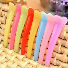 5pcs Hairdressing Colorful Plastic Clips Pin Clamp Salon Barber Hairstyle Tool