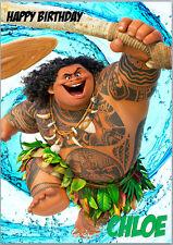 Moana Maui Demigod Birthday Card A5 Personalised with any wording