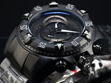 New Invicta Reserve 52mm Triple Black Excursion Swiss Chronograph Bracelet Watch